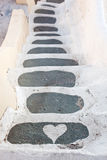 Love steps in Santorini - Oia Stock Images