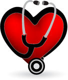 Love stethoscope Royalty Free Stock Images