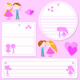 Love sticker Stock Images