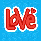 Love Sticker Social Media Network Message Badges Design Stock Photography