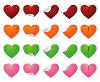 Love sticker. Design design illustration with green, red, pink, orange color Royalty Free Stock Photography