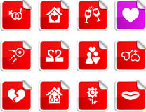 Love stickers. Royalty Free Stock Photography