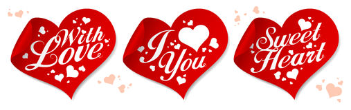 Love stickers. Stock Photo