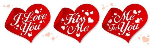 Love stickers. Stock Image