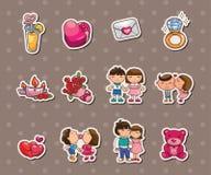 Love stickers Stock Image