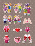 Love stickers. Cartoon vector  illustration Royalty Free Stock Images