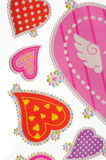 Love stickers. Colorful valentine heart stickers - pink Stock Photography