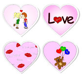 Love stickers - set 2. Love stickers isolated on white Stock Photography