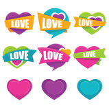 Love stickers Royalty Free Stock Image