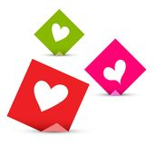Love sticky notes set Royalty Free Stock Photography