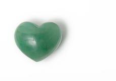 Love stone. A chakra stone with heart shape Stock Photography