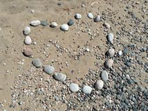 Love stone beach design heart Royalty Free Stock Images