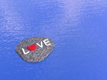 Love on the stone - 3D render Stock Images