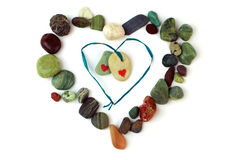 Love stones. Isolated over white Stock Photos