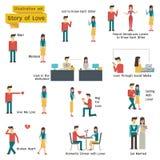Love Story καθορισμένο Στοκ Εικόνες