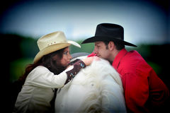 Love story. In cowboy's style Royalty Free Stock Photos