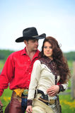 Love story. In cowboy's style Stock Photos