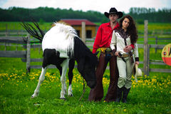 Love story. In cowboy's style Stock Photography
