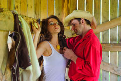 Love story. In cowboy's style Stock Photo
