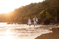 Love story on the beach Royalty Free Stock Image
