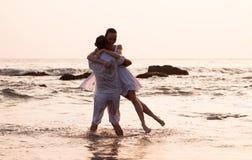 Love story on the beach Stock Photo