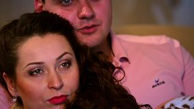 Love story between  beautiful people. Close up stock video footage