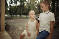 Love story  boy and girl Royalty Free Stock Image