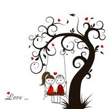 Love story card,  Royalty Free Stock Photos
