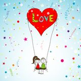 Love story card, vector Stock Image