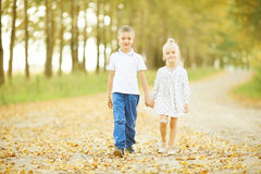 Love story children boy and girl Stock Image