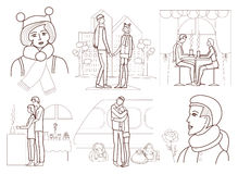 Love story (coloring book) Stock Photography