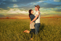 Love story. In cowboy's style royalty free stock photo