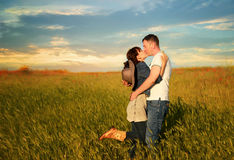 Love story. In cowboy's style royalty free stock image