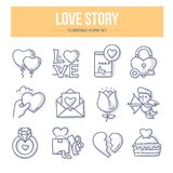 Love Story Doodle Concept royalty free illustration