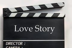 Love story film slate Royalty Free Stock Photography