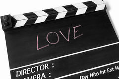 Love story film slate Stock Images