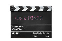 Love story film slate Royalty Free Stock Images