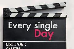Love story film slate Stock Photography