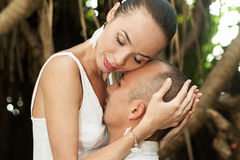 Love story in jungle Stock Photo