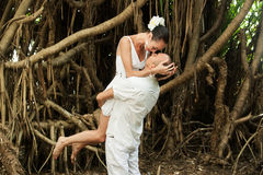 Love story in jungle Royalty Free Stock Photography