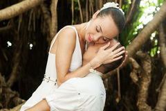 Love story in jungle Stock Image