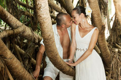 Love story in jungle Stock Photography