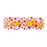 Love story logo. Vector illustration. Love, hearts. Valentines day. Be my valentine. 14 february. Royalty Free Stock Photography