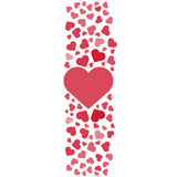 Love story logo. Vector illustration. Love, hearts. Valentines day. Be my valentine. 14 february. Stock Image