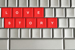 Love story message Royalty Free Stock Image