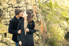A love story in nature Royalty Free Stock Photos