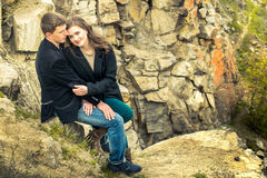 A love story in nature Royalty Free Stock Images