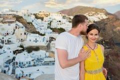 Love story Santorini Stock Photography