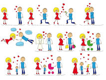 Love Story-Satz Stockfotos