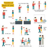 Love Story set Stock Photo